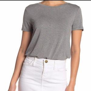 Gray T-Shirt Bodysuit